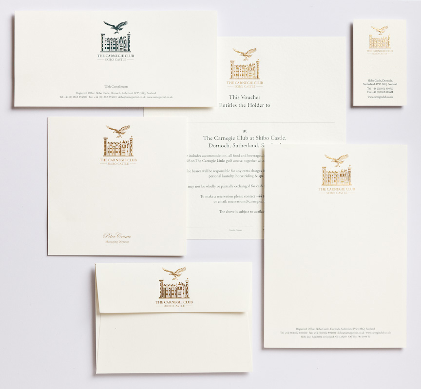 Corporate stationery, letterheads, compliments slips, business cards and envelopes.