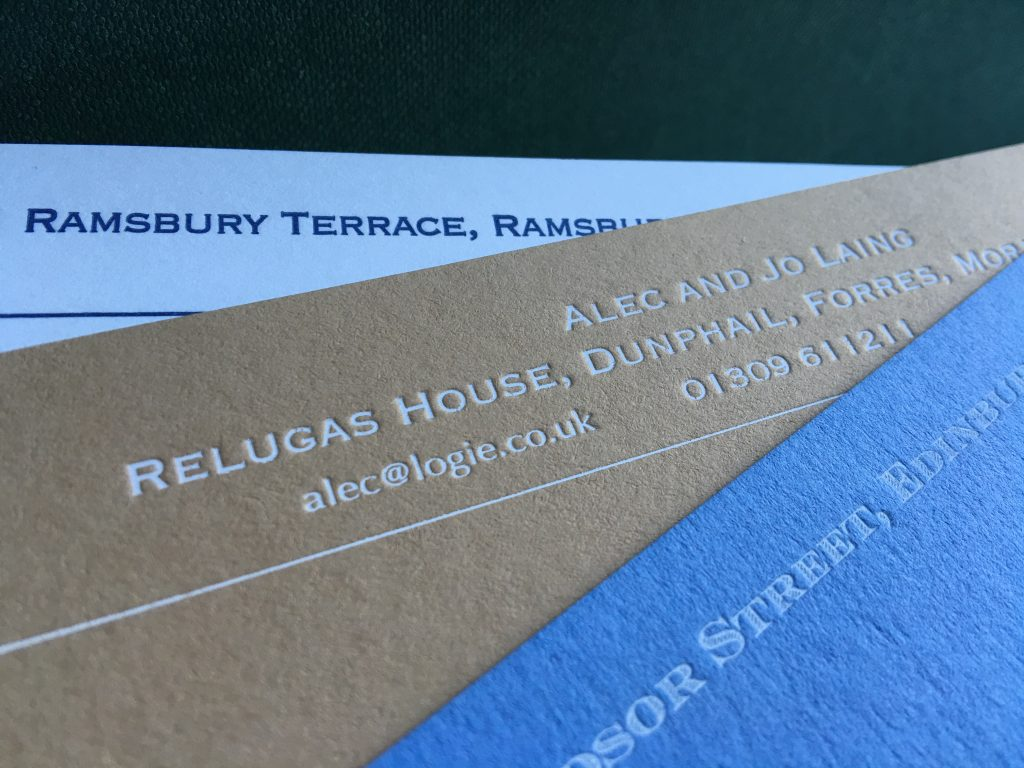 Correspondence cards for personal stationery.