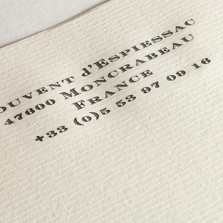 Engraved writing paper for personal stationery.