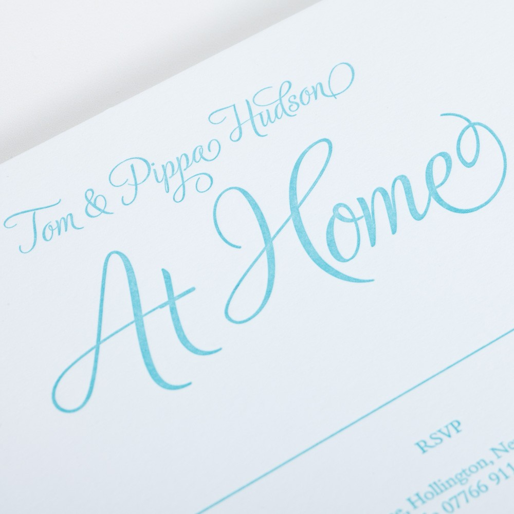At home card for personal stationery.
