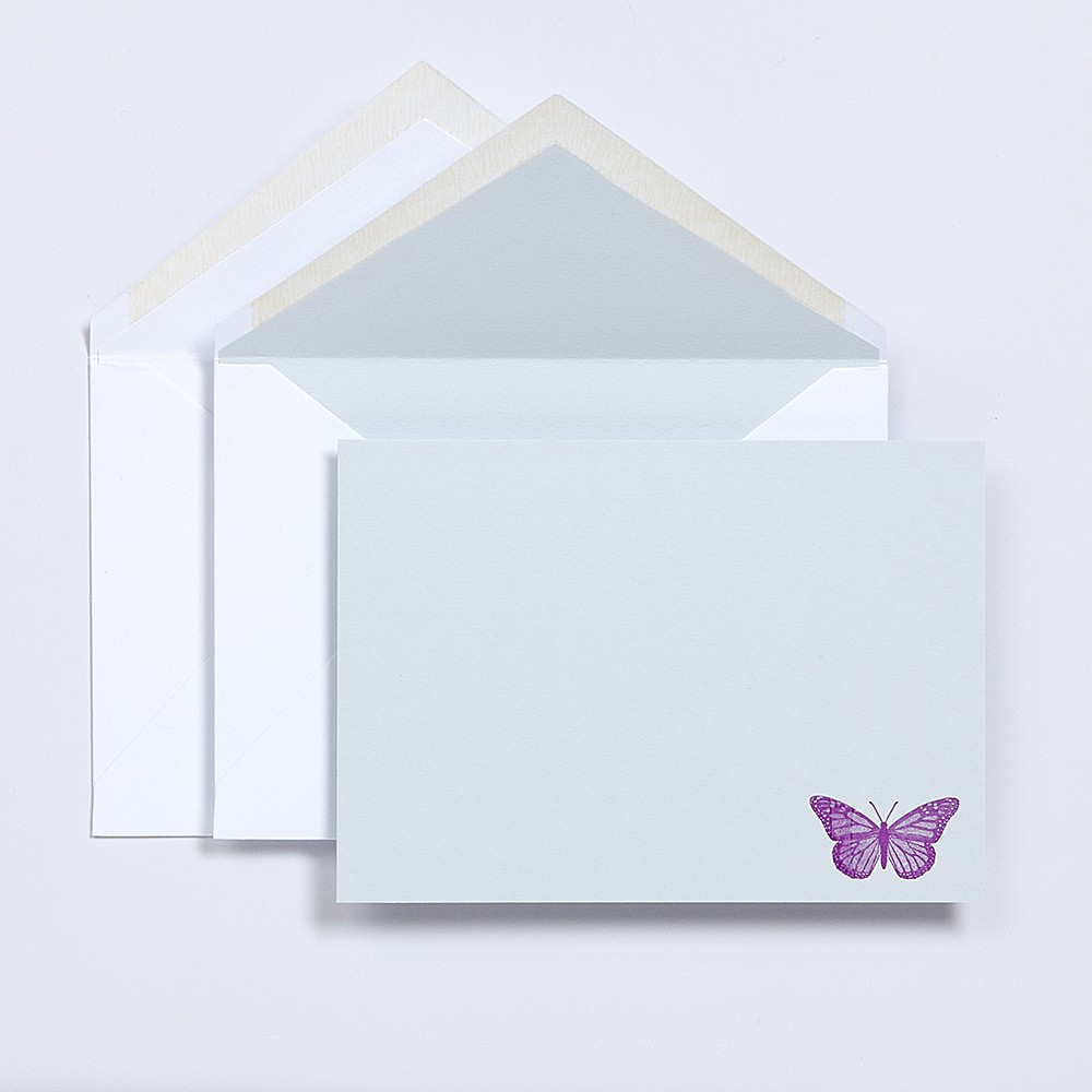 Children's cards for personal stationery with lined envelopes.