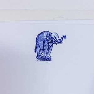 Elephant correspondence cards