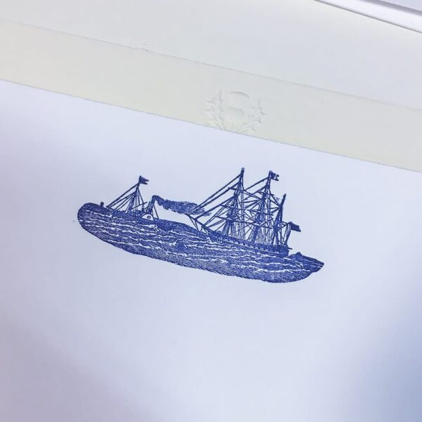 Boats motif – letterpress correspondence cards