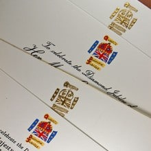 Her Majesty The Queen's Diamond Jubilee - Special Invitations with Jubilee Logo.