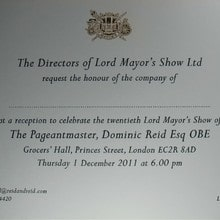 Lord Mayor's Show - Invitation of the Month