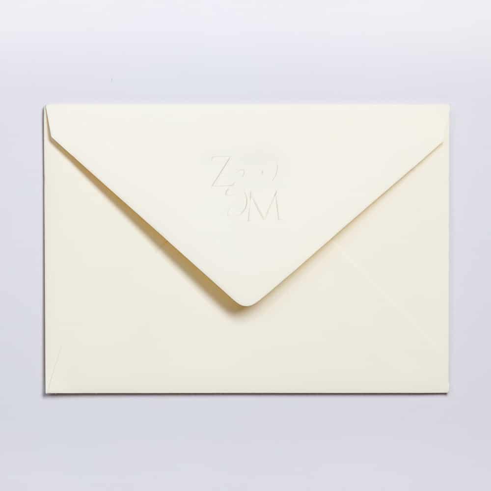 Blind embossed envelope